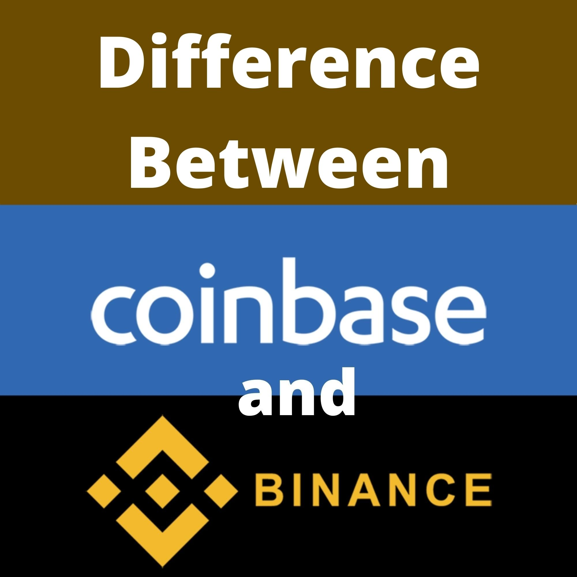 difference between coinbase and binance