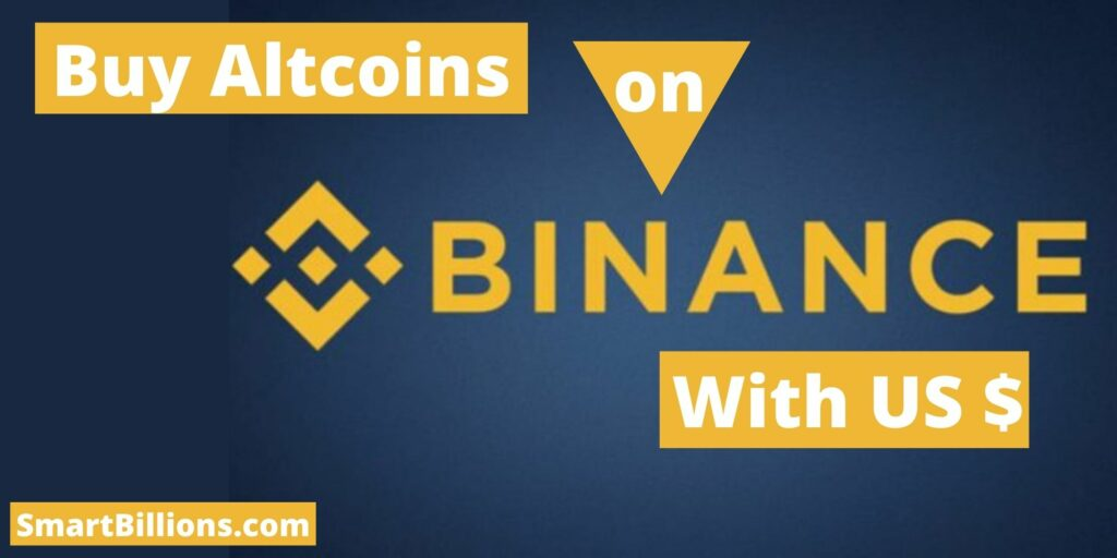 how to buy altcoins on Binance with USD