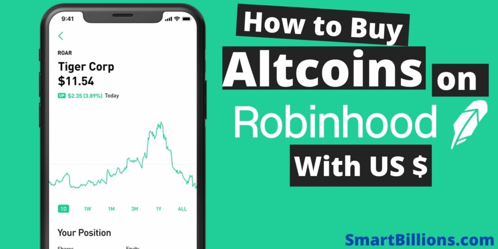 how to buy altcoins on Robinhood with USD