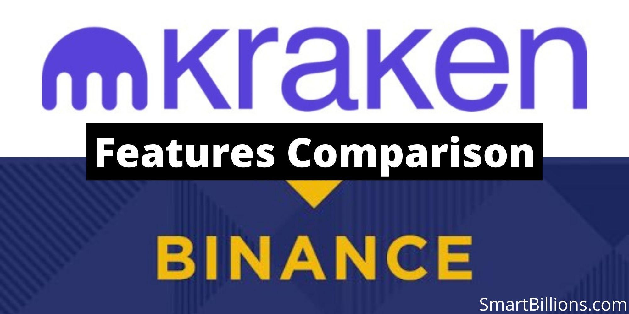 kraken vs binance features comparison