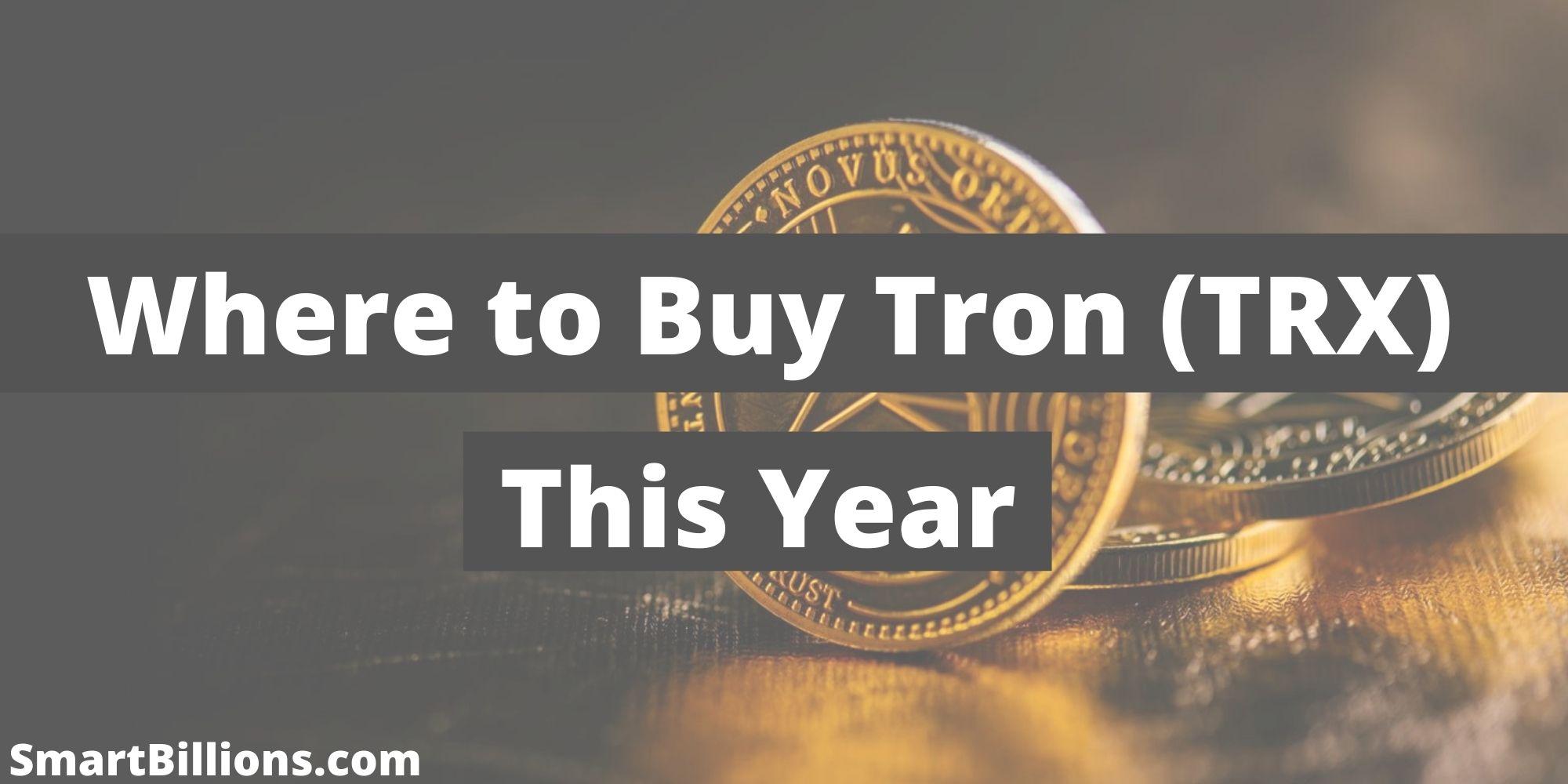 where to buy tron (trx)