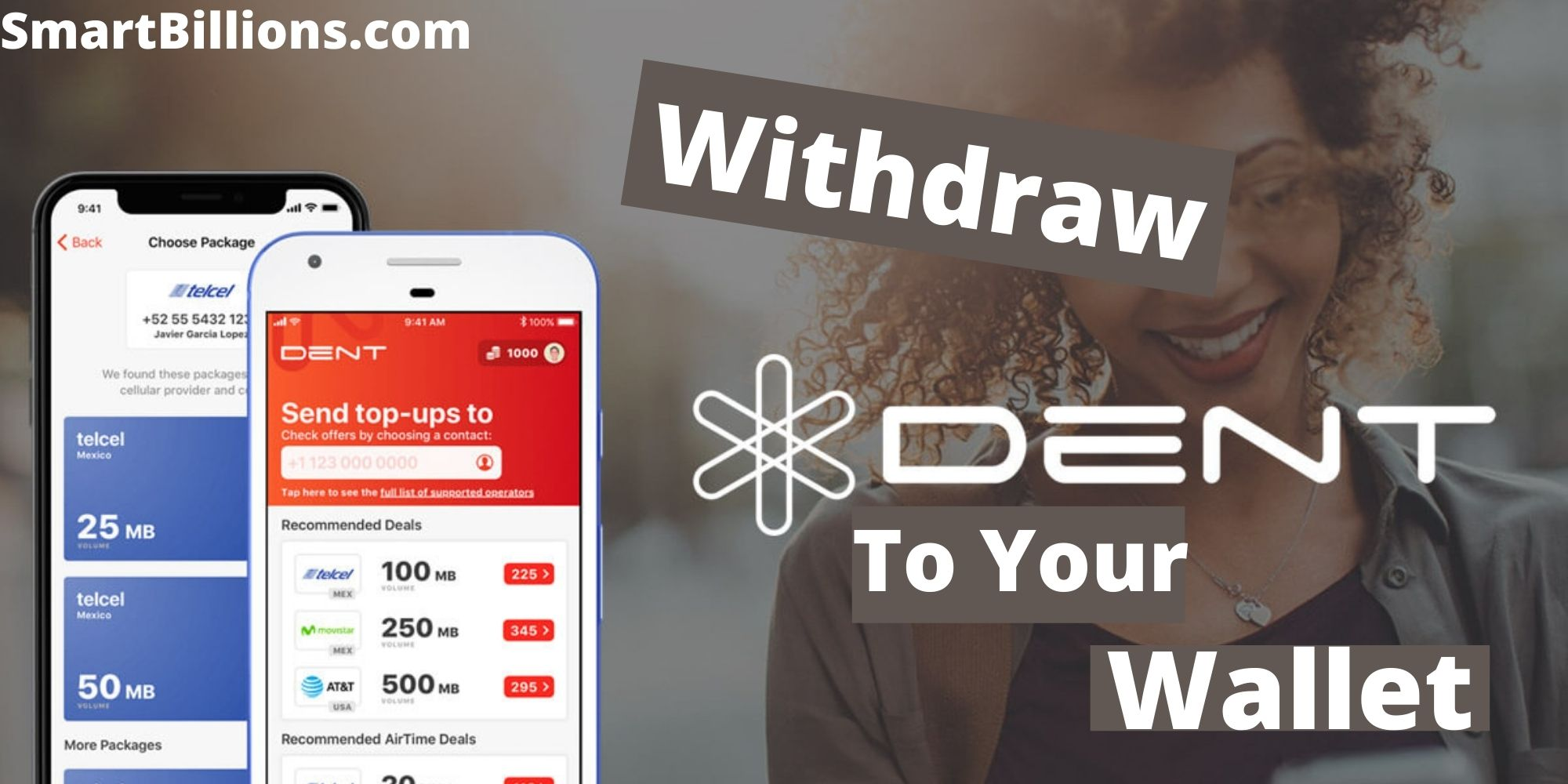 withdraw dent coin to your wallet
