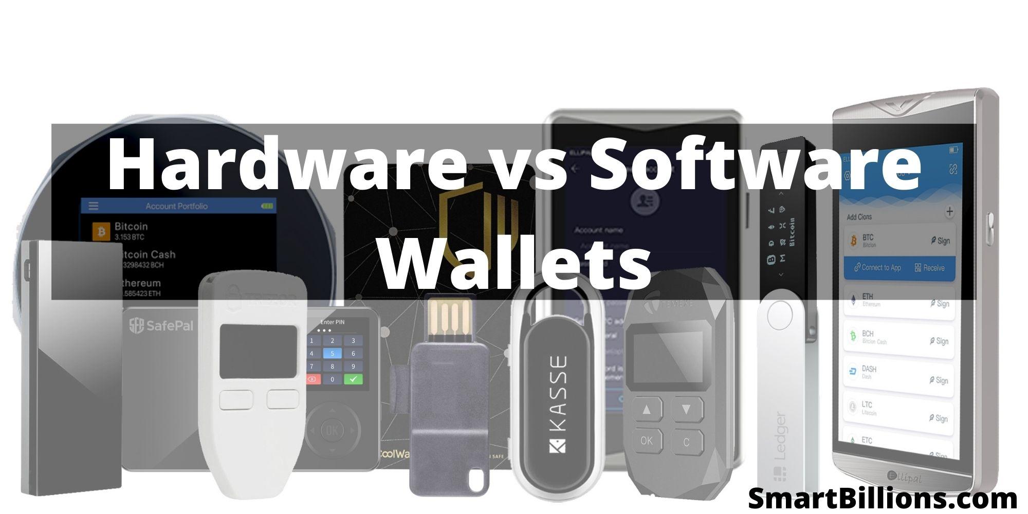 hardware wallets vs software wallets