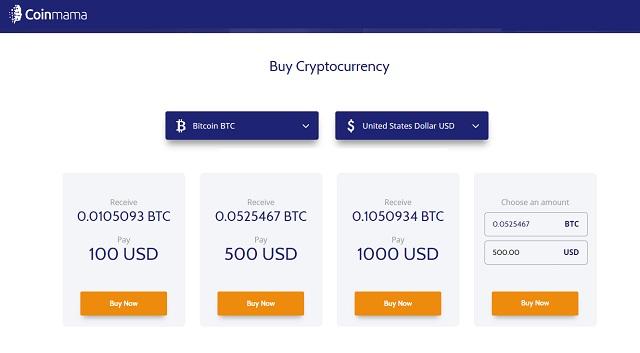 Coinmama Cryptocurrencies